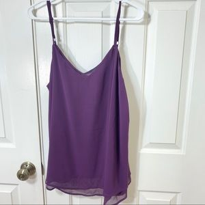 NWT TORRID ROYAL PURPLE DOUBLE LAYER CAMISOLE 1X